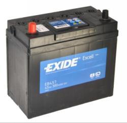 Exide Excell EB457 45Ah 330A bal+ Ázsia (EB457)