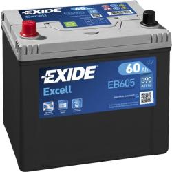 Exide Excell EB605 60Ah 390A bal+ (EB605)
