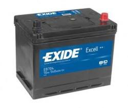 Exide Excell EB704 70Ah 540A jobb+ Ázsia (EB704)