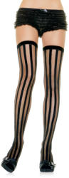 SHEER STOCKINGS WITH VERTICAL STRIPES