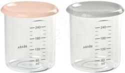Beaba Set 2 recipiente pentru mâncare Beaba 2x240 ml nude și gri (BE912715)