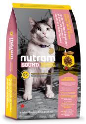 Nutram S5 Nutram Sound Balanced Wellness® Adult and Senior Natural Cat Food, Рецепта с Пиле, Сьомга и грах, за котки над 1 година, Канада - 1, 8 кг (S5 Nutram Sound Balanced Adult Senior Natural Cat Food 1,