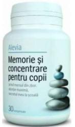 Alevia Memorie si concentrare pentru copii - 30 comprimate