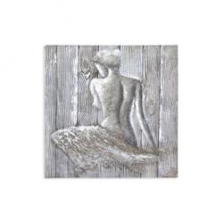 Mendola Tablou pictat manual Young Girl, dimensiunea 80x80cm