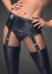 Noir Handmade F034 Sexy Garter Belt with An Erotic Back Lacing XXL