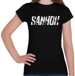 printfashion Sanhok - Fehér felirat - PUBG - Női póló - Fekete
