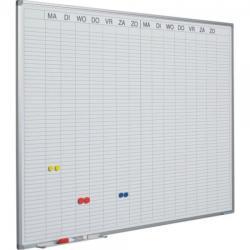 SMIT Planner dublu saptamanal, 90 x 120 cm, profil aluminiu SL, (benzi magnetice incluse) SMIT (4971)
