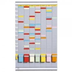 Jalema Planner saptamanal cu T-cards, 35 de slot-uri, gri deschis, JALEMA (5877)