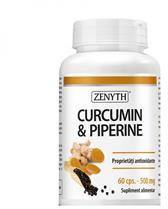 Zenyth Pharmaceuticals Curcumin si Piperine 500mg 60cps Zenyth