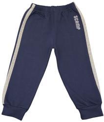 Scamp Pantaloni trening cu elastic in talie, albastru inchis cu dungi gri (NIG305)
