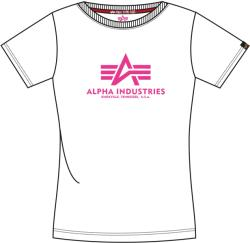 Alpha Industries New Basic T Woman - white/neon pink