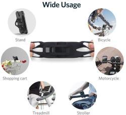 Baseus Стойка за телефон за детска количка или колело Baseus черна