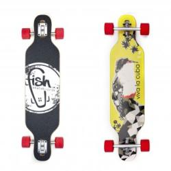 "Fish Skateboards Longboard Viva La Cuba 35"""