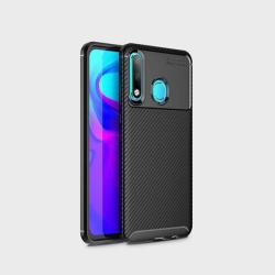 Калъф за Huawei P30 Lite силиконов гръб черен Plaid