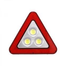 3 в 1 led работна лампа, led авариен триъгълник + соларно зареждане (hs-8018)