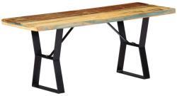 vidaXL Пейка, 110 см, регенерирана дървесина масив (247952)