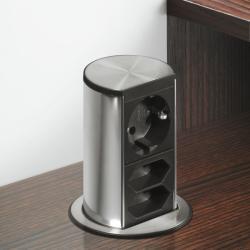 Bachmann Priza retractabila incorporabila Bachmann Elevator 822.92. 920, 1 priza Schuko, 2 prize Euro, 230 V (822.92.920)