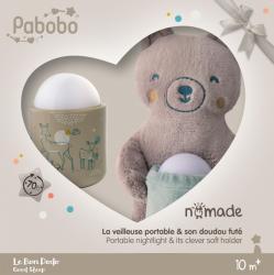 Pabobo Lampa De Veghe Pabobo Nomade Cu Ursulet Plus Culoare Bej Cu Led Reincarcabila