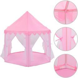 vidaXL Cort de joacă pentru prințesă, roz (91798)