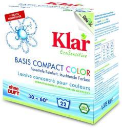 Klar ÖKO-szenzitív általános mosópor színes ruhákhoz 1,375kg