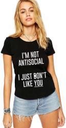 THEICONIC Tricou dama negru - I'm not antisocial