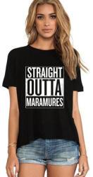 THEICONIC Tricou dama negru - Straight Outta Maramures