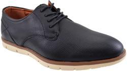 THEICONIC Pantofi negri barbati perforati cu talpa crem II