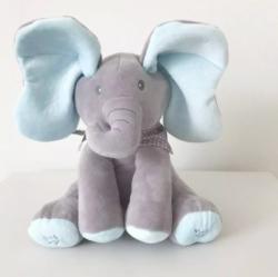 TOY World Int Elefantul interactiv din plus Peek a boo ( Cucu-Bau) (KT 591)