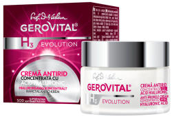 Gerovital Cremă antirid concentrată cu acid hialuronic Gerovital H3 Evolution, 50 ml