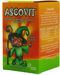 Ascovit Căpșuni, 100 mg, 20 tablete