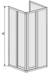 Sanplast Classic KT/DR-C-70 70x70 cm szögletes