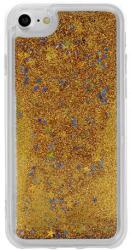 Samsung G960 Galaxy S9, Szilikon tok, Liquid (Csillámos), arany