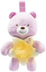 Chicco First Dreams Goodnight Bear proiector muzical ursulet 0m+, Roz