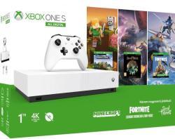 Xbox One S 1TB All Digital + 3 hry (Fortnite, Minecraft, Sea