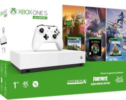Microsoft Xbox One S (Slim) 1TB All-Digital Edition + Minecraft + Sea of Thieves + Fortnite