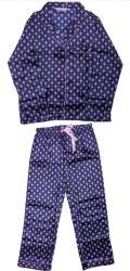 Germag Set pijamale lungi pentru femei Forever Dreaming, imprimeu abstract, Bleumarin