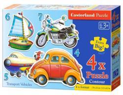 Castorland Szállítójárművek 4 az 1-ben sziluett puzzle (B-04232)