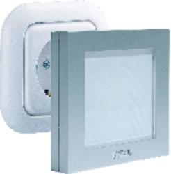 m-e modern-electronics Lampă de veghe led alb m-e modern-electronics pătrat argintiu