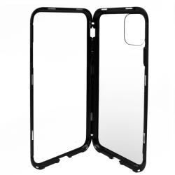 Meleovo Carcasa iPhone 11 Pro Max Meleovo Magnetica Back Glass Black (MLVMSGXIPMBK)