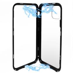 Meleovo Carcasa iPhone 11 Pro Meleovo Magnetica Back Glass Black (MLVMSGXIPBK)