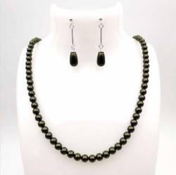 Zarro Design Set perle cristal Swarovski® Dark Green