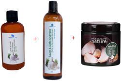 Hunca Промо пакет за косопад с чесън, шампоан 700мл, Маска за коса 500мл + Балсам 400мл, Hunca Care
