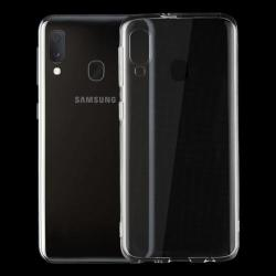 Samsung Galaxy A20E, vékony TPU szilikon tok, átlátszó
