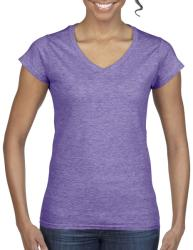 Gildan Tricou V-neck Olivia S Heather Purple
