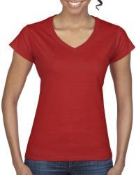 Gildan Tricou V-neck Olivia S Red