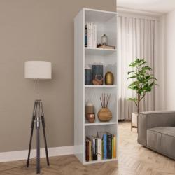 vidaXL Bibliotecă/Comodă TV, alb lucios, 36 x 30 x 143 cm, PAL (800150)