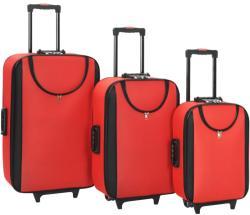 vidaXL 3 részes puha falú bőrönd szett (91769)
