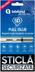 telefonultău Folie sticla telefonultau 5D Full Cover, Fata - Spate, Apple iPhone 11 Pro, Full Glue, Black