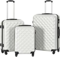 vidaXL 3 részes keményfalú ABS bőrönd szett (91887/8/9/0)