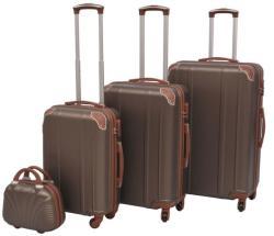 vidaXL 4 részes kemény fedeles bőrönd szett (91193/4/5/6)